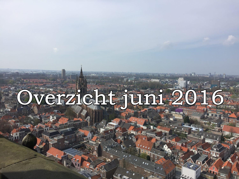 overzicht van juni