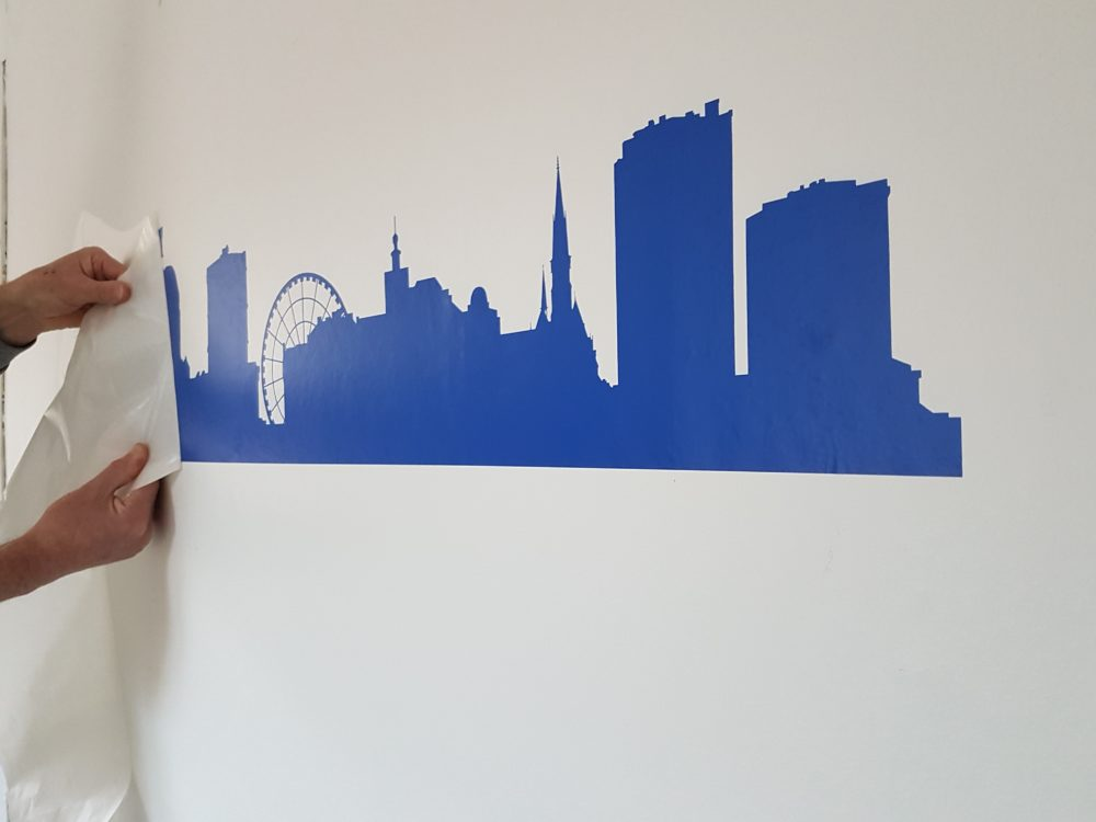 skyline Gothenburg muursticker