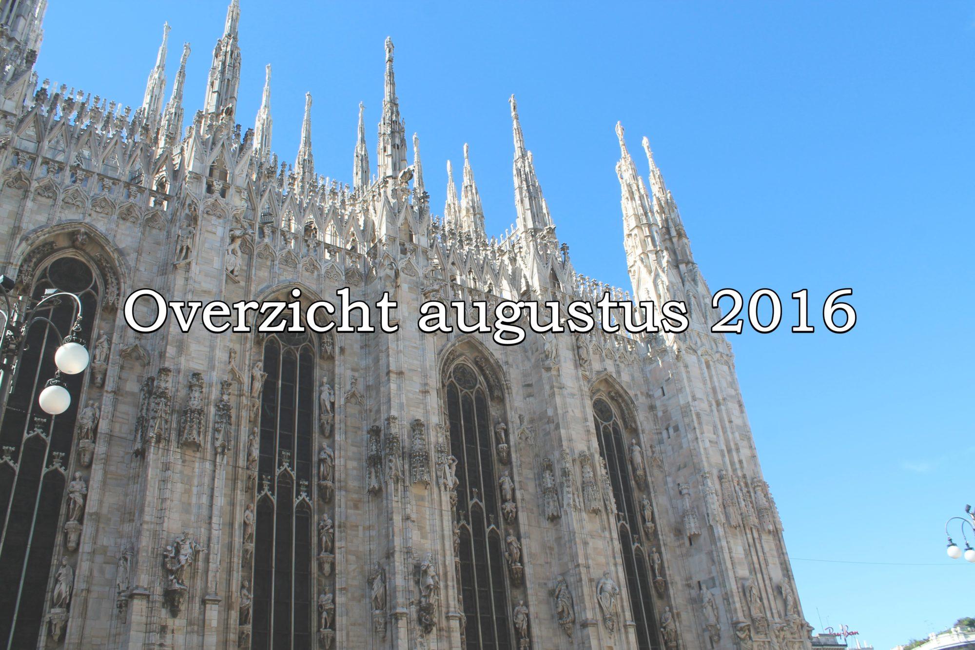 Overzicht van augustus