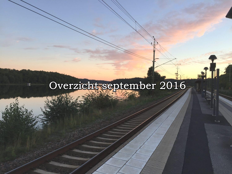 overzicht van september