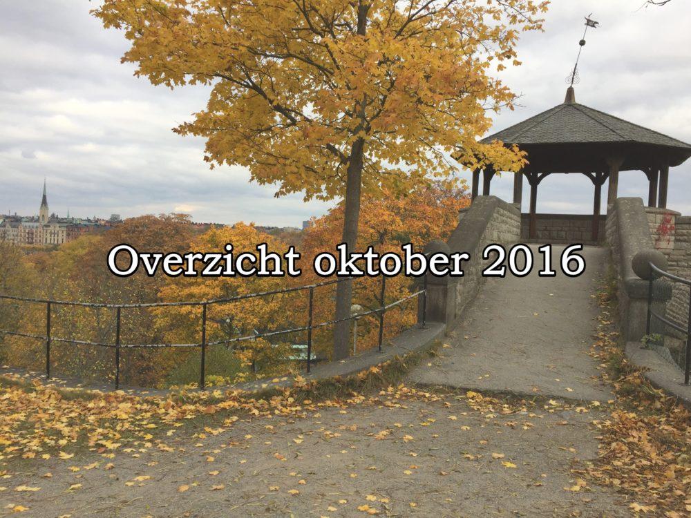 Overzicht van oktober
