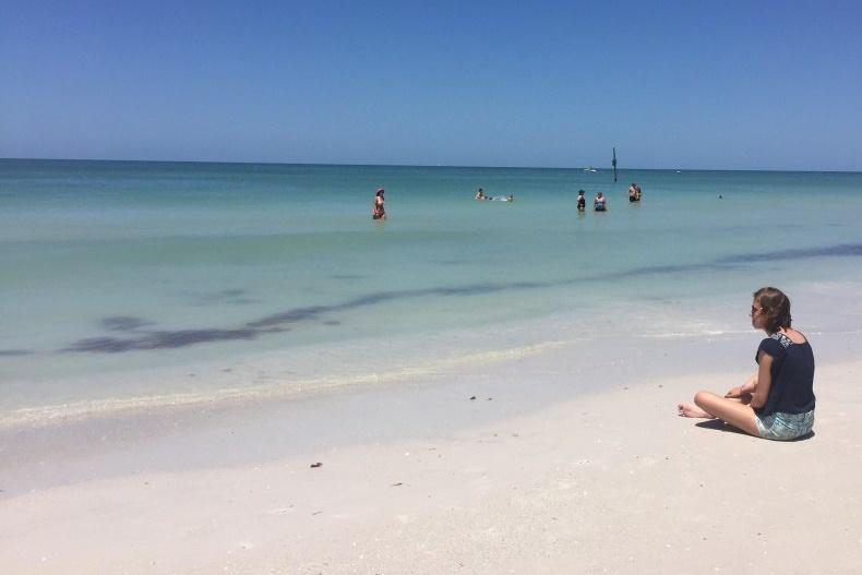 waar schijnt de zon wel - Clearwater beach