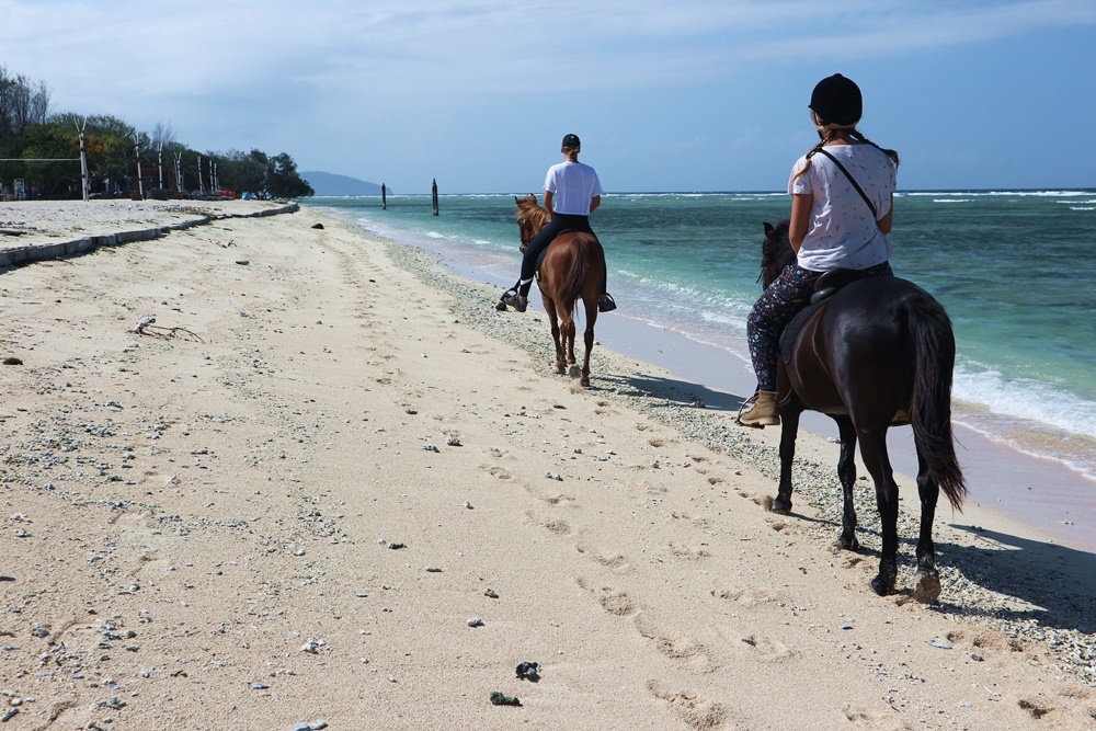 paard rijden op Gili Trawangan
